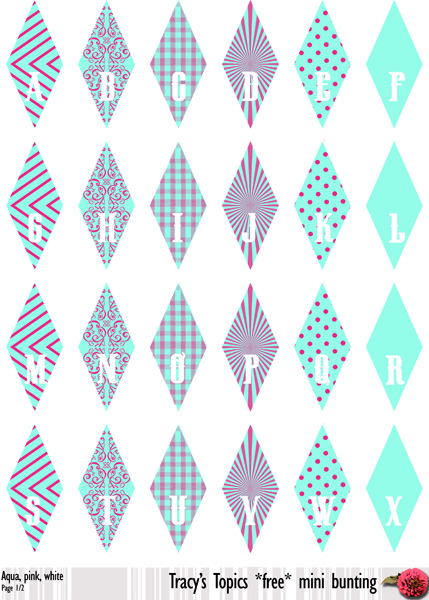 free printable mini bunting 4 colour sets pick a pin duo