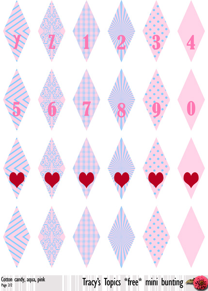 Bunting Banner Cake Template