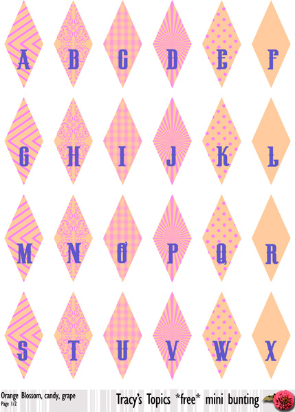 Free Printable Mini Bunting 4 Colour Sets Pick A