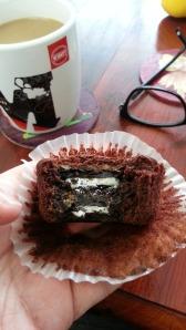 Oreo caramel cupcake